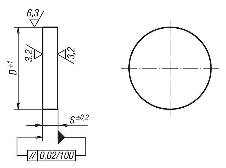 Plateau circulaire Fonte grise et aluminium - Plateaux circulaires