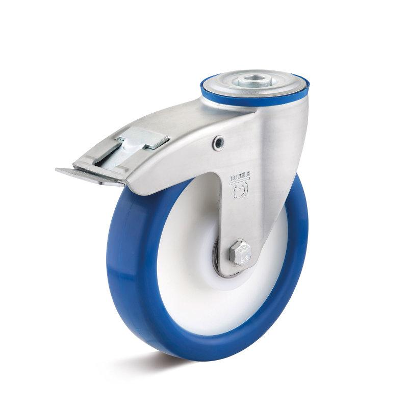 Polyurethane standard castors  up to 450 kg - PUZK wheel series in standard IL housing, steel sheet, galvanized