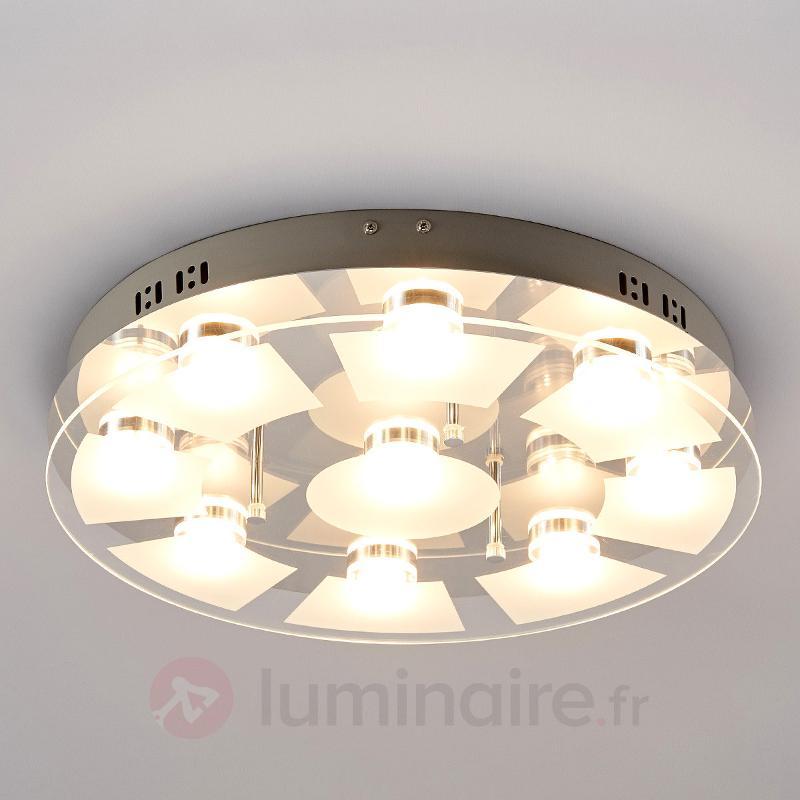 Plafonnier LED Karlina en verre - Plafonniers LED