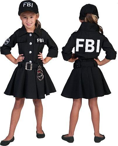 Costume FBI filles - null
