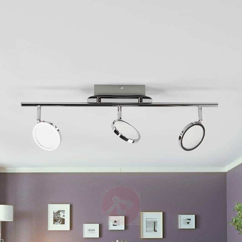 Hazel 3-light LED ceiling lamp in chrome - Ceiling Lights