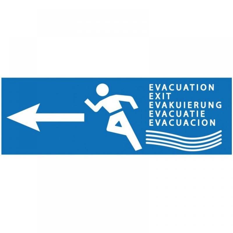 Panneau d'évacuation innondations sortie a gauche 300... - Sécurité incendie