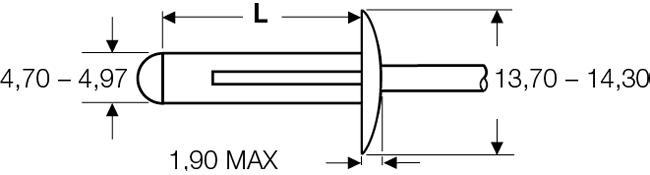 """Blind rivet technology - POP® - """"LSR"""" - Load-spreading rivets - Large flange"""