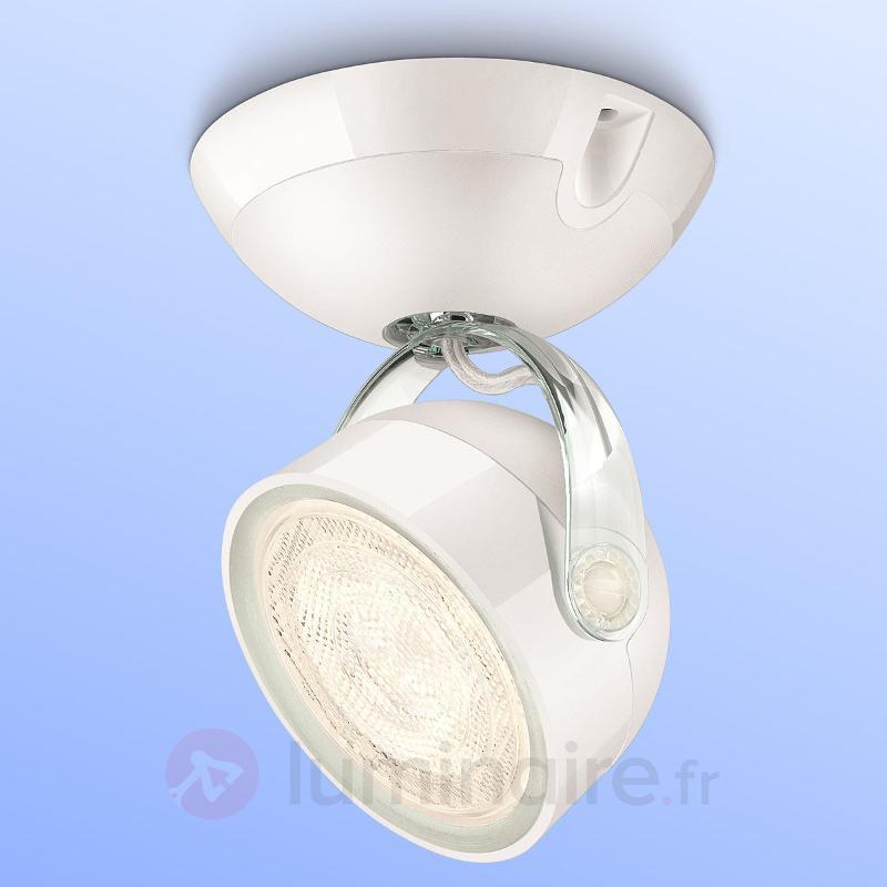 Spot LED blanc Dyna à 1 lampe
