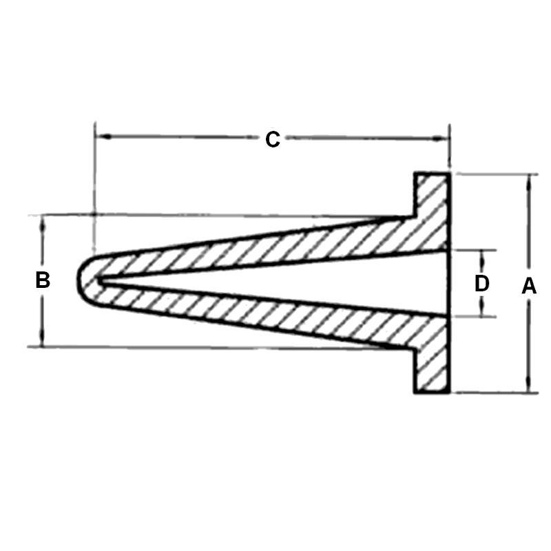 N22C-Bouchons de protection creux à collerette - Haute Température