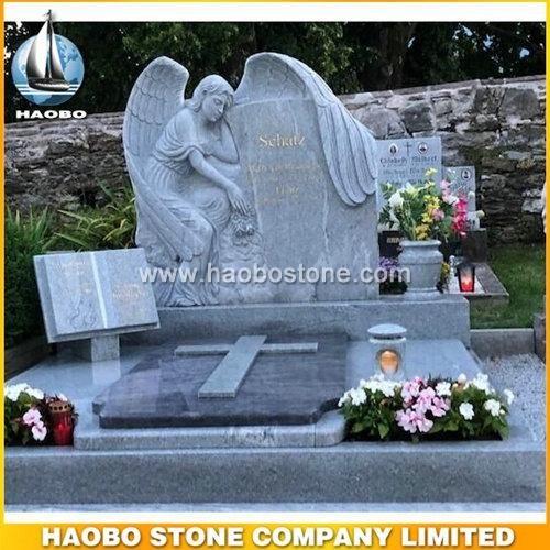Carved Angel Headstones With Viscont White Granite For Sale - Austria Tombstone