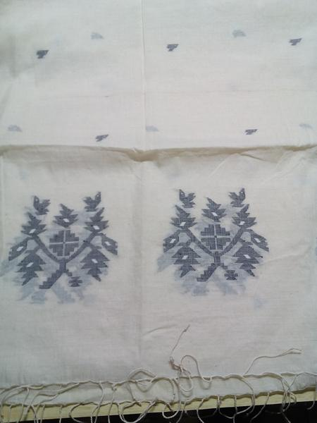 Jamdani Cotton Embroidered Scarves - Wholesalers & Suppliers From India | Custom Design Development