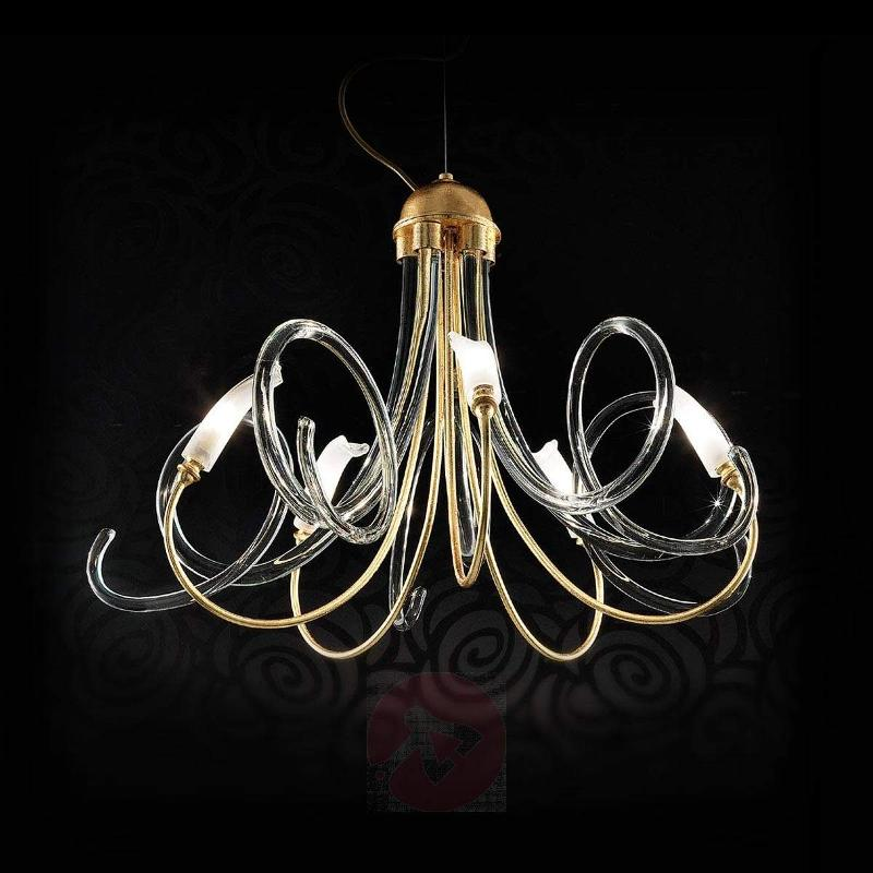 Luxurious hanging light Chic with gold leaf - Chandeliers