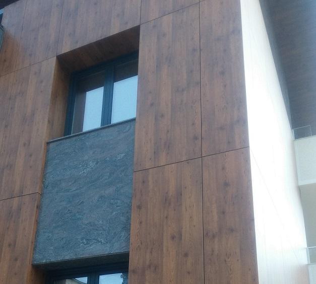 Ventilating facade