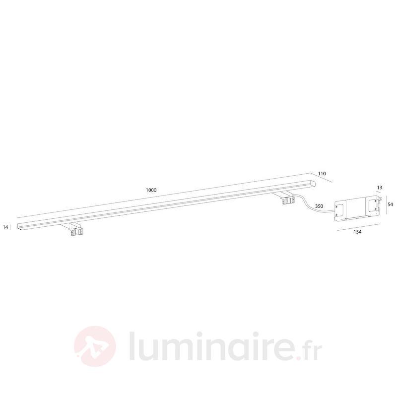 Applique pour miroir LED Esther de 100 cm de large - Salle de bains et miroirs