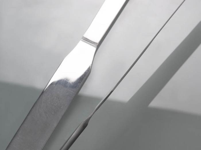 Микро-шпатель из нержавеющей стали - Пробоотборник, лабораторное оборудование, длина 170 мм