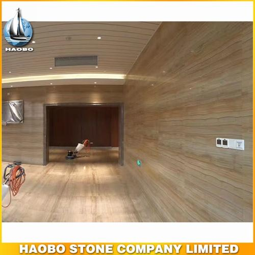 China Gold Wooden Grain Marble Tile For Wall And Floor Cover