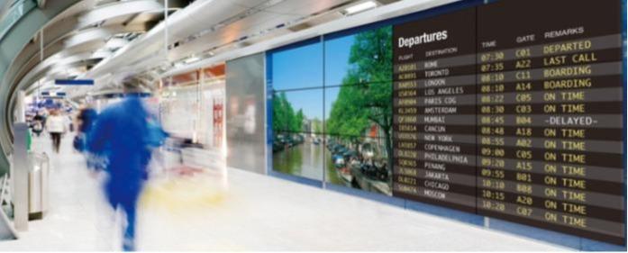 A szálloda recepciójának információs képernyője - Információ Óriás AVA LED kijelzők