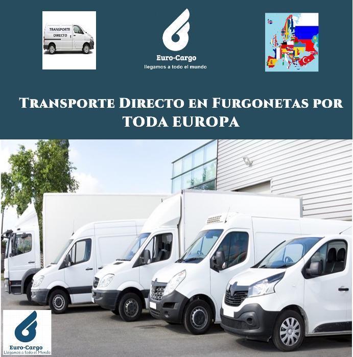 Transporte Directo en Europa - Servicio Urgente en Furgonetas de 10 a 22 mts3