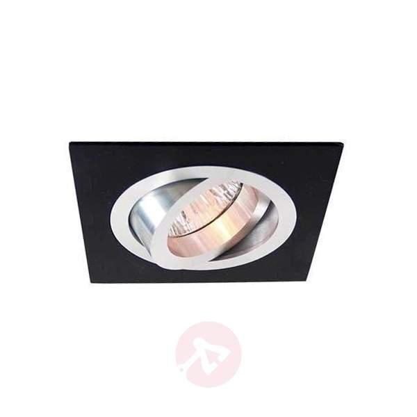 Low-voltage aluminium/black recessed light - Low-Voltage Spotlights