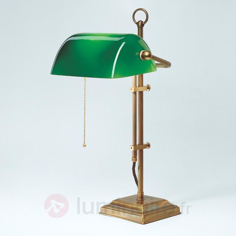 Véritable lampe de banquier TULSI - Lampes de bureau