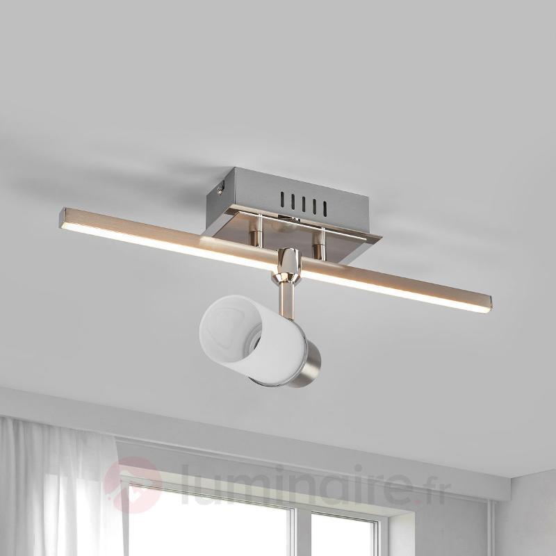 Plafonnier LED à deux lampes Marcelina - Plafonniers LED
