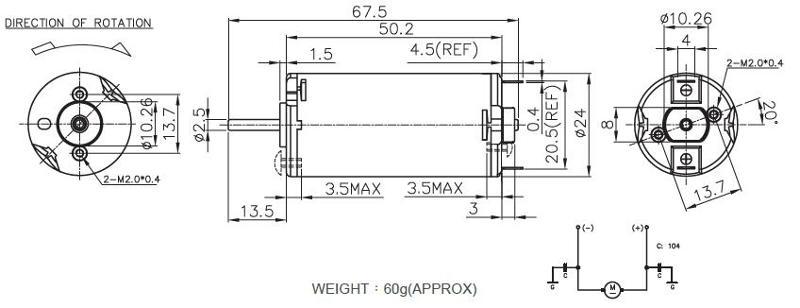 Brush DC Motor/Round Type - RK-290