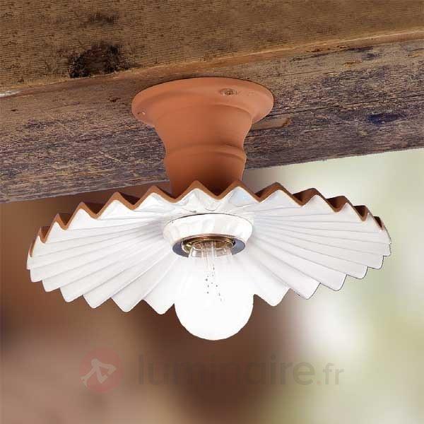 Plafonnier ARGILLA aspect rustique - Plafonniers rustiques