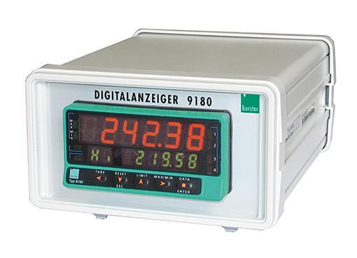 工艺流程指示器 - 9180 - 高度准确的2个最小和最大峰值显示,RS232或RS485,TARA和HOLD功能,可选:功能强大的PC软件,用于收集和处理测量数据