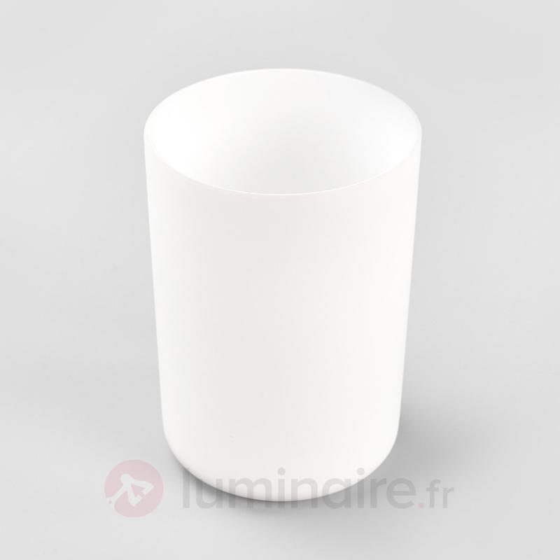 Lampe à poser blanche Lentje lumière vacillante - Lampes solaires décoratives