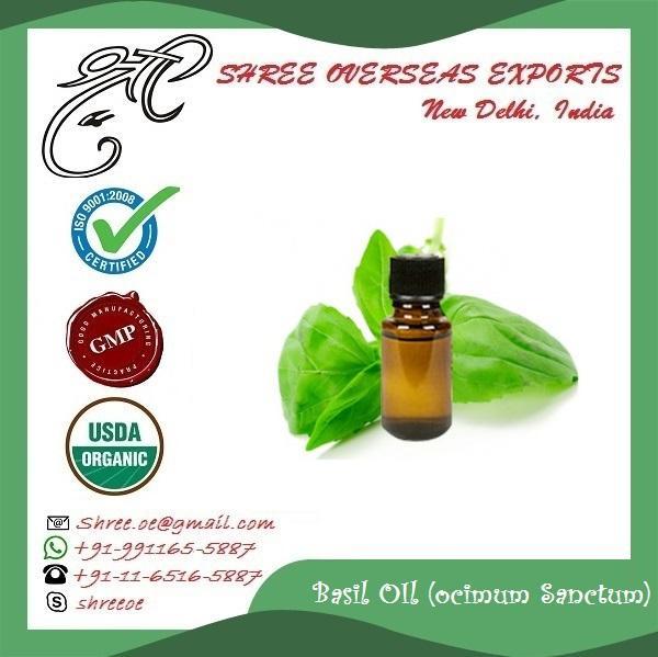 Organic  Basil Oil (Ocimum Sanctum) - USDA Organic