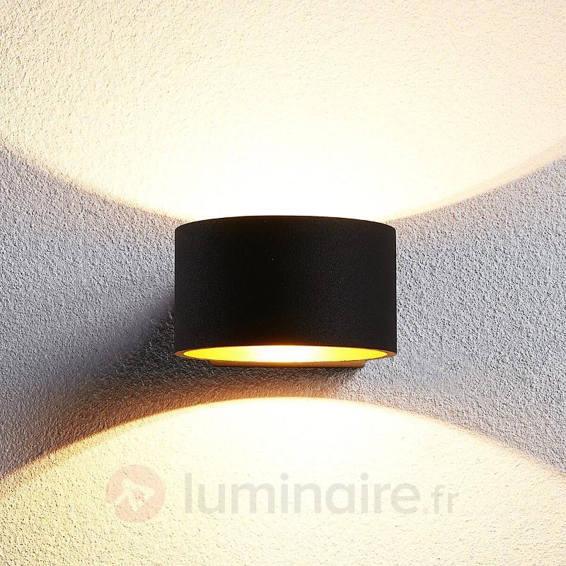 Applique LED noire dorée Marlea - Appliques LED