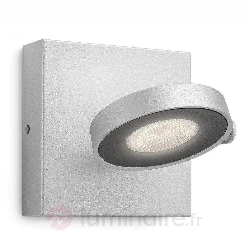 Applique LED Clockwork, finition alu - Spots et projecteurs LED