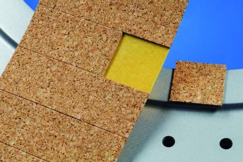 adhesive cork pads/spacers, 20 x 20 mm - cork, combined with Steierform 87-92400