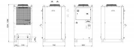 Tal29÷a0 Grandezza 1 Trifase Refrigeratori Industriali Per Acqua - LINEA REFRIGERAZIONE