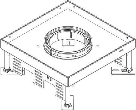 Height-adjustable heavy-duty cassette for tube body RKFNSL - Rectangular heavy-duty cassette for tube body, stainless steel