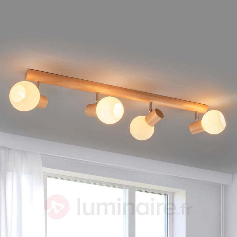 Plafonnier fonctionnel Karin, 4 lampes - Plafonniers en bois