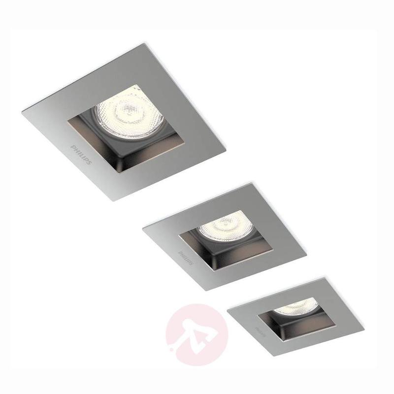 Angular Porrima LED recessed light in a set of 3 - Recessed Spotlights