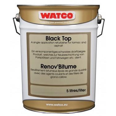 Peinture de sol extérieure - Rénov'bitume 5 Litres Noir LQ UN 1263 Rouleau de 31 cm de la