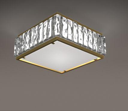 Art deco square glass ceiling light - Model 2060 A