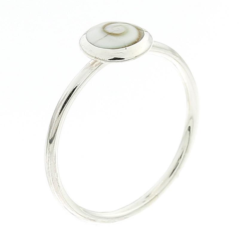 Anel em Prata 925 Concha Olho de Shiva - Modelo 22931
