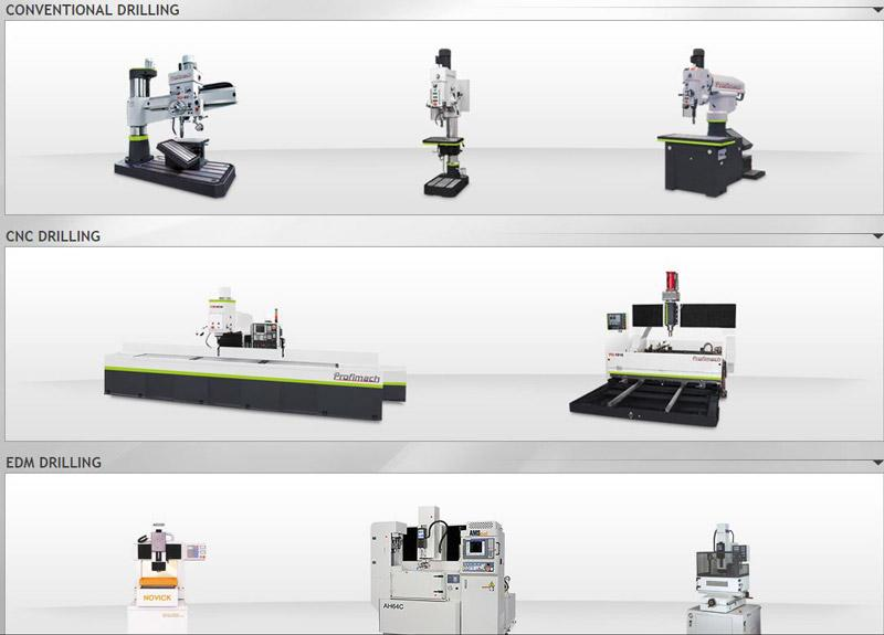 DRILLING MACHINES - CONVENTIONAL, CNC, EDM, VERTICAL MACHINING CENTER