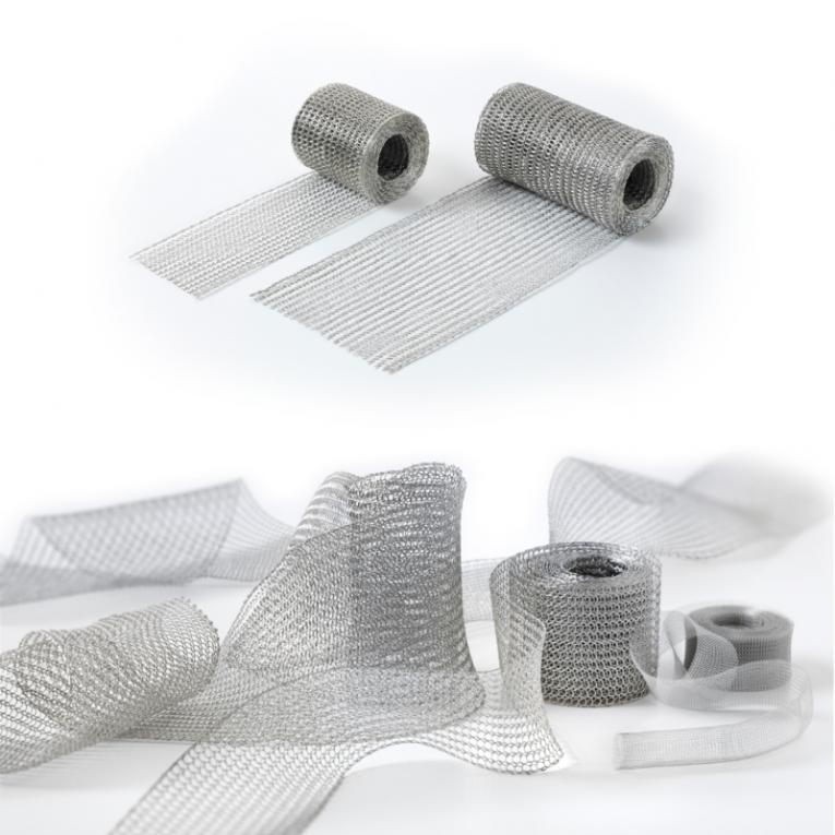 Flat-knitted copper tape for shielding - Flat-knitted fabric for electrical shielding