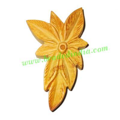 Handmade wooden fancy pendants, size : 54x32x9mm - Handmade wooden fancy pendants, size : 54x32x9mm