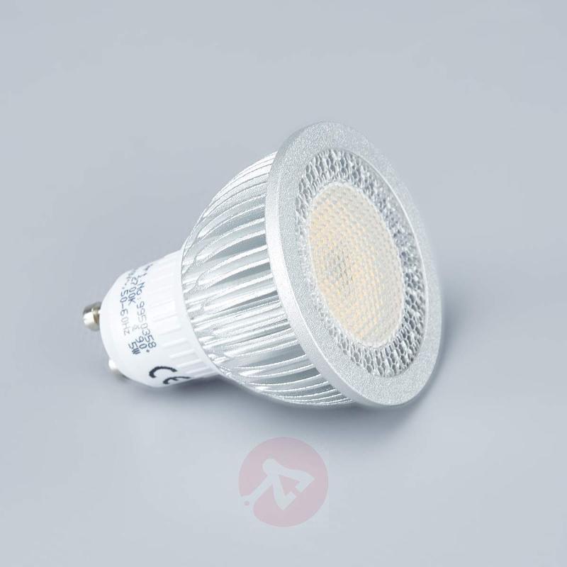 LED spotlight set Lisara in nickel matte, round - Recessed Spotlights