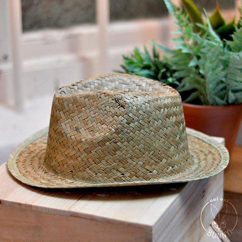 Chapeau de paille CAPRI - Avec ruban personnalisé ou sans personnalisation