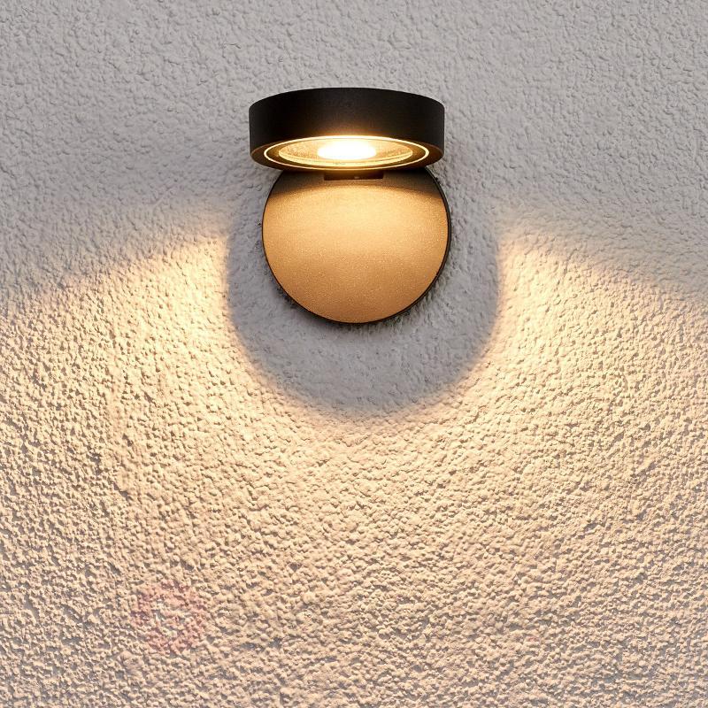 Spot mural LED rond Alijana pour l'extérieur - Projecteurs d'extérieur LED