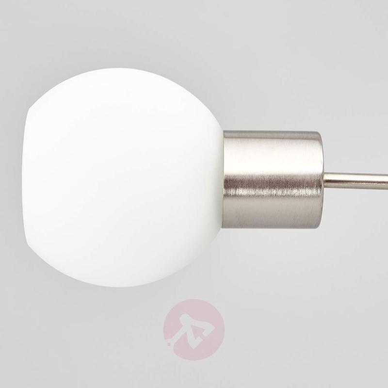 Three-bulb LED ceiling light Elaina, nickel matte - Ceiling Lights
