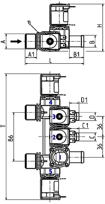 Servo-controlled solenoid valve NC, DN 13 - 19.013.326