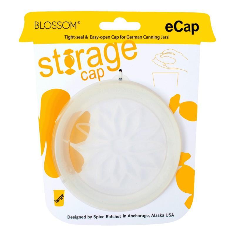 Coiffe en silicone Blossom eCAP Storage, diamètre 100 mm, couleur blanche transp - CLIPS, JOINTS, COUVERCLES, ACCESSOIRES WECK