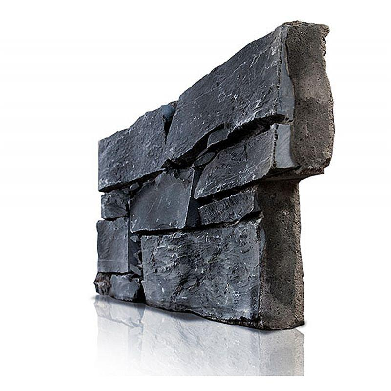 rev tement de mur parement stonepanel en ardoise noir granulart france. Black Bedroom Furniture Sets. Home Design Ideas