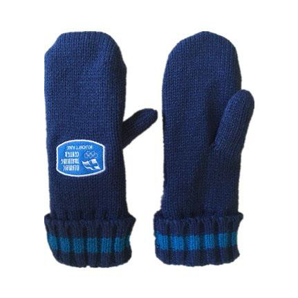 knitted mittens and gloves. -