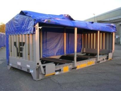 Coils Carrier - Designed and built for European intermodal transport (road /rail /sea) of steel