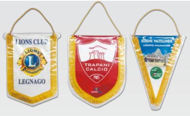 Gagliardetti Stampati - Gagliardetti personalizzati stampati in sublimazione ampia scelta di modelli