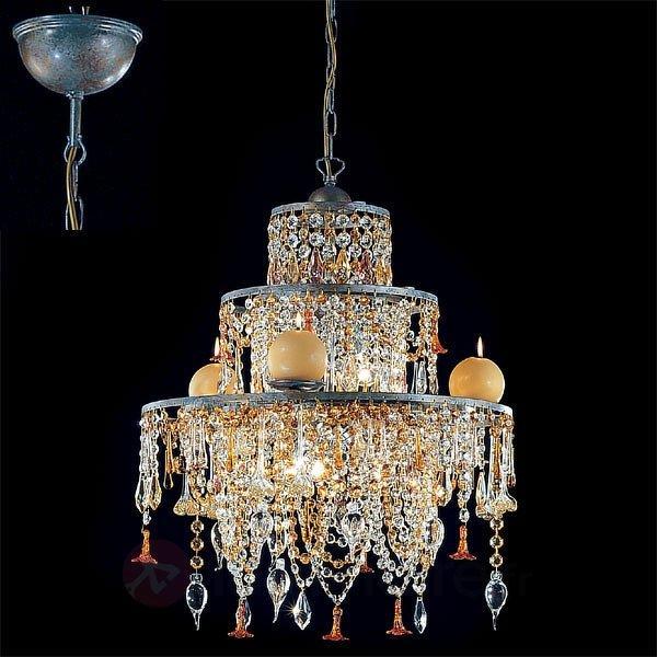 Suspension chandelier GOLDEN DREAM - Lustres designs, de style